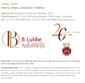 b lubbe and associate attorneys