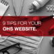 9 Tips for your OHS website