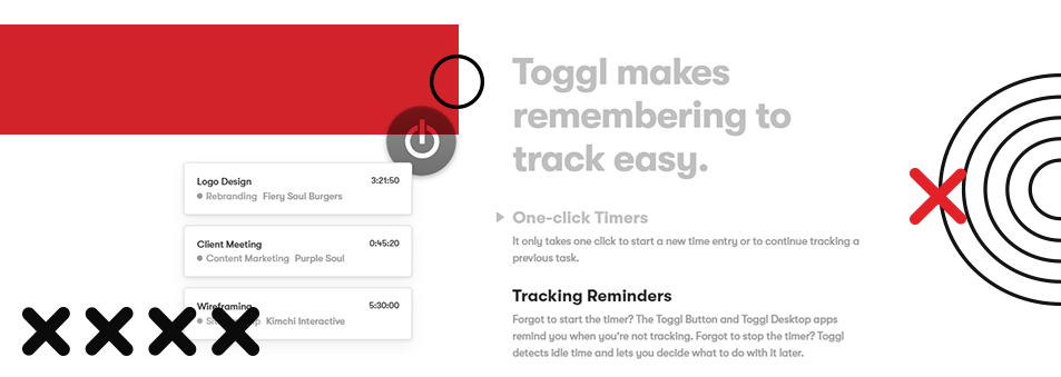 Toggl makes remembering to track easy.